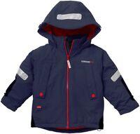 Brand New Kids Boys Didriksons Melvin Waterproof Hooded Jacket -Navy