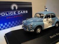MODEL POLICE CAR MORRIS MINOR BRITISH POLICE CAR 1:43 DIE CAST BLUE 1957 LEYLAND