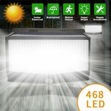 468 LED Solar Wall Lights Outdoor Motion Sensor Garden Door Fence Security Lamps