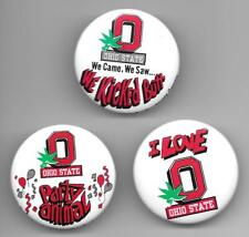 lot of 3  Ohio State Buckeyes 1987 pinback button pins