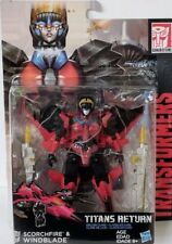 Transformers Generations Titans Return Deluxe Windblade & Scorchfire