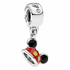 NEW PANDORA Disney Sterling Silver Mickey Enamel Hat Ears Charm 792121ENMX
