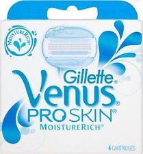 Gillette Venus ProSkin moisturerich Women's Razor cartucho de recarga Paquete de 4