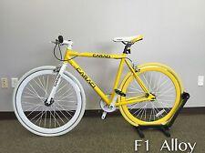 Caraci Bike Fixed Gear Bike Fixie Stel Urban Bike Flip Flop Hub F1 yellow color