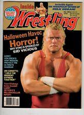 Inside Wrestling Magazine Dec 1990 Halloween Havoc Horror Sid Vicious....