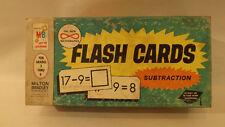 "Vtg Milton Bradley Flash Cards Nos Subtraction Math 3.5"" x 7"""