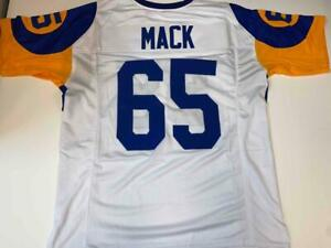 Tom Mack Jersey Custom Unsigned Stitched Los Angeles White Jersey Size XL