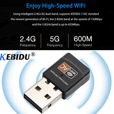 600Mbps 2.4G 5G Hz USB Dual Band wireless wifi LAN Adapter For PC Computer