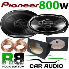 """Pioneer 800 Watts a Pair 3-Way CAR VAN 6""""x9"""" Speakers & 6x9 BLACK Pod Box PAIR"""