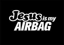 W319 JESUS IS MY AIRBAG Amusant Voiture Fenêtre Pare-Chocs JDM VW EURO Vinyl Decal Sticker