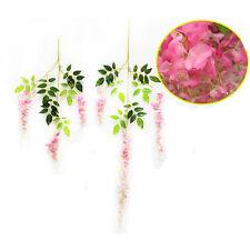 Lot Artificial Fake Silk Rose Flower Ivy Vine Hanging Garland Wedding Home Decor