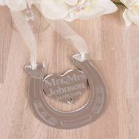Personalised Mr & Mrs Wedding Lucky Horseshoe Bridal Gifts Good Luck Keepsakes.