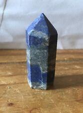 REGNO Unito Nuovo Unico Naturale Blu Lapislazzuli Crystal Point 43x15MM