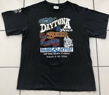 90s vtg BIKE WEEK Double Sided All Over Motorcycle Distressed Shirt XL Harley 3D
