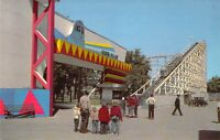 IL Chicago RIVERVIEW AMUSEMENT PARK Silver Flash ROLLER COASTER Postcard A89