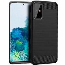 Funda carcasa Samsung Galaxy S20+ Plus Carbon Carbono Case negra Silicona TPU