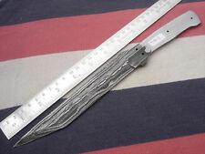 "11.25"" custom made hunting butter Damascus steel knife blank blade random 4908"