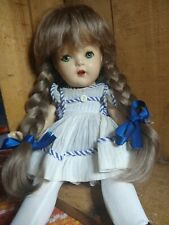 "BEAUTIFUL! Vintage 13"" Unmarked Horsman? Composition Doll Real Human Wig"