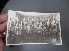 Gypsy Party Baildon ShipleyYorkshire 1929 photographic POSTCARD authentic  o