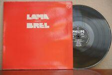 SERGE LAMA LAMA CHANTE BREL FRENCH LP SPLIT ON COVER  CHANSON