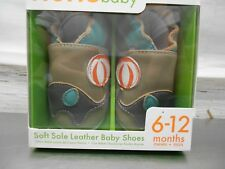 Momo Baby Boy's Soft Sole Leather Crib Bootie Shoes # 6-12 Months