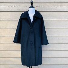 Vintage Lilli Ann Classic Cocoon Black Coat