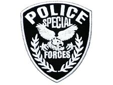 Police Shield Special Forces Fancy Dress Iron On Embroidered Shirt Badge Patch