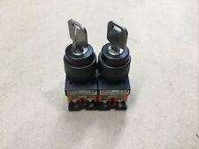 Lot Of 2 Fuji Electric Key selector switch Ar22Jr #1023I43*Ad