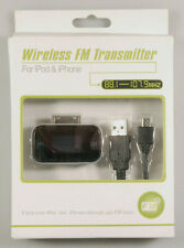 PRL) TRASMETTITORE WIRELESS FM TRANSMITTER FOR iPOD iPHONE 3G 3GS 4 CELL PHONE