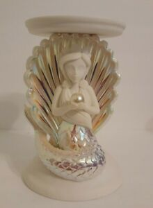 Bath & Body Works Iridescent Mermaid Shell Pedestal Candle Holder NEW