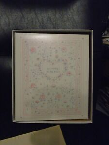 C.R. GIBSON 3 RING WEDDING ALBUM LOOSE LEAF WITH TRANSPARENT SLEEVES #WO-48
