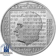 Deutschland 10 Euro Silber 2010 bfr 100. Geburtstag Konrad Zuse in Münzkapsel