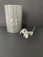 Swarovski Crystal Dachshund w/ Spring Coil Tail Figurine 7641075000 Mib