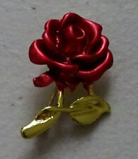 Red Rose Enamel Flower Valentine Fashion Brooch Pin Brand New FREE P&P