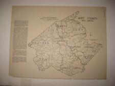 ANTIQUE 1933 WIRT WETZEL COUNTY ELIZABETH NEW MARTINSVILLE WEST VIRGINIA MAP NR