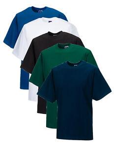 Russell Plain WHITE BLACK BLUE GREEN Cotton Tee T-Shirt Tshirt XS-XXXXL