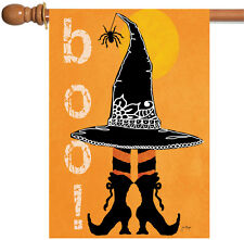 Toland Boo Boots 28 x 40 Halloween Witch Hat Spider Double Sided House Flag