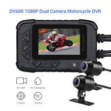 DV688 Waterproof Motorcycle Recorder Night Vision DVR Camcorder Front&Rear Lens