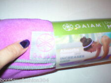 New Gaiam No Slip Mat Towel Fas Drying Thirsty Hot Yoga Pilates Purple Pink Gray