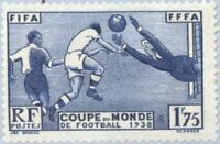 EBS France 1938 Football World Cup FIFA FFFA YT 396 MH* cv €15 ($24)