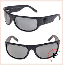 24f839422cce9 VERSACE Men Black Medusa Wrap Sunglasses VE4276 Matte Grey Silver Mirrored  4276