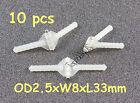 15pcs Light Nylon Pivot & Round Hinges D2.5xW8xL33.0mm RC Plane (US SELL SHIP)