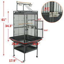 "61"" Large Bird Cage Large Play Top Parrot Finch Cage Removable Part Pet Supplies"