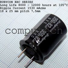 Rubycon BXC low impedance 82uF 350V 105°C 8000-12000 hours 18x25mm 1 pezzo