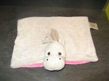 doudou cheval blanc crème rose pericles état neuf
