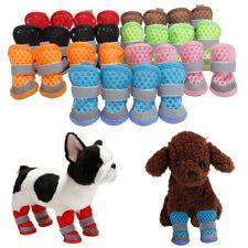 4pcs Puppy Pet Dog Shoes Mesh Boots Booties Snow Rain Reflective Anti-slip