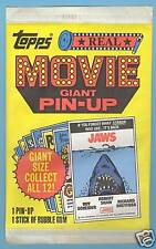 1981 Topps REAL MOVIE GIANT PIN-UP Unopened Pack