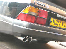 SAAB 900 CLASSIC CARLSSON STAINLESS TWIN TAILPIPE CONVERTIBLE - injection models