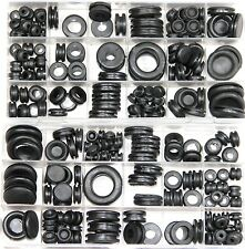 250 Pc Rubber Grommet Assortment Set Fastener Kit Blanking 18 Popular Sizes