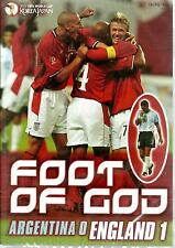 FOOT OF GOD - ARGENTINA 0  ENGLAND 1 - NEW DVD SET- FREE UK POST